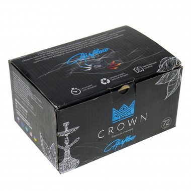 Уголь кокосовый Crown Airflow оригинал большой кубик 25мм 72шт