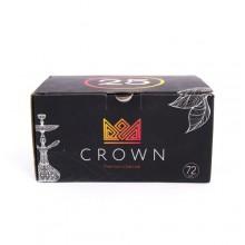 Уголь кокосовый Crown оригинал большой кубик 25мм 72шт